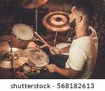 African American Drummer In...