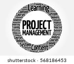 project management circle word... | Shutterstock . vector #568186453