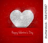 vector happy valentine's day... | Shutterstock .eps vector #568193587