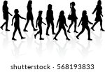 group of people. crowd of... | Shutterstock .eps vector #568193833