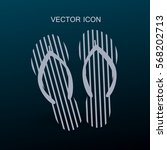 flip flops icon vector... | Shutterstock .eps vector #568202713