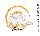 bakery logo. hand drawn...   Shutterstock .eps vector #568222657