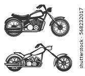 set of motorcycle icons... | Shutterstock .eps vector #568232017