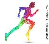 running sprinter  sportsman....   Shutterstock .eps vector #568238743