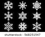 snowflake vector icon... | Shutterstock .eps vector #568251547