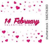 happy valentines day.... | Shutterstock .eps vector #568256383
