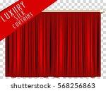 luxury scarlet red velvet... | Shutterstock .eps vector #568256863