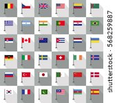 flag country icon vector... | Shutterstock .eps vector #568259887