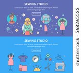 sewing studio  tailoring... | Shutterstock .eps vector #568265533