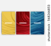 set of abstract feather... | Shutterstock .eps vector #568266853