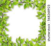 frame of tree branches with...   Shutterstock .eps vector #568268923