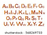 set of crystal alphabet letters.... | Shutterstock .eps vector #568269733