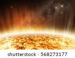 Detail Of Glowing Surface Of...