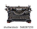 Old Typewriter Isolated On...