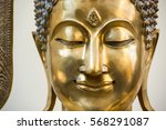 Buddha Face Peaceful Eye And...