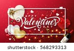 happy valentine's day... | Shutterstock .eps vector #568293313
