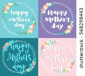 happy mother day greeting cards ... | Shutterstock .eps vector #568298443