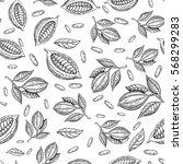 Cocoa Branch Vector Seamless...