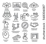 business management icons in... | Shutterstock . vector #568306087