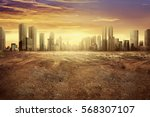 modern city showing the effect... | Shutterstock . vector #568307107