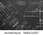 blueprints. mechanical... | Shutterstock .eps vector #568311037