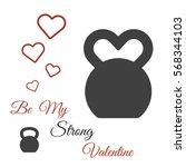 vector valentine's day card... | Shutterstock .eps vector #568344103
