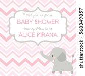 baby shower invitation design... | Shutterstock .eps vector #568349857