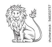 vector image of heraldic lion... | Shutterstock .eps vector #568353757