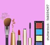cosmetics  mascara  eyeshadow ... | Shutterstock .eps vector #568354297