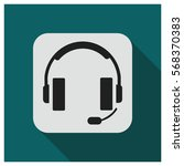 headset vector icon | Shutterstock .eps vector #568370383