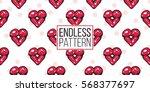 vector fashion sketch. hand... | Shutterstock .eps vector #568377697