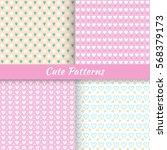 set of cute patterns  vector... | Shutterstock .eps vector #568379173