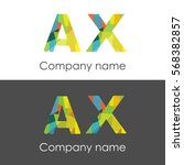 ax letter abstract mosaic shape ...   Shutterstock .eps vector #568382857