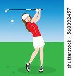 Female Golf Player.vector...