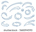 set of different curved and... | Shutterstock .eps vector #568394593