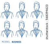 business man in different... | Shutterstock .eps vector #568394623