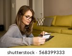 paying with credit card | Shutterstock . vector #568399333