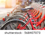 bicycles in common use in the... | Shutterstock . vector #568407073