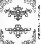 vintage architectural details... | Shutterstock .eps vector #568408387