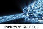 3d rendering. glamorous bright... | Shutterstock . vector #568414117
