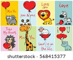 set of 8 vector valentine's... | Shutterstock .eps vector #568415377