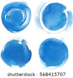 blue watercolor blotch. set of... | Shutterstock .eps vector #568415707