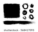 brush strokes isolated. ink... | Shutterstock .eps vector #568417093