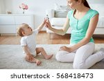 family  children and parenthood ... | Shutterstock . vector #568418473