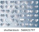 silver heart vector icon...   Shutterstock .eps vector #568421797