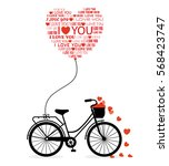 great card for valentine's day. ... | Shutterstock .eps vector #568423747