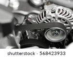 car alternator with belt ... | Shutterstock . vector #568423933