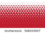 hearts halftone vector. retro... | Shutterstock .eps vector #568424047
