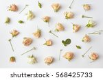 assorted roses heads. | Shutterstock . vector #568425733
