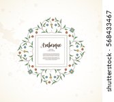 vector vintage decor  ornate... | Shutterstock .eps vector #568433467
